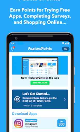 FeaturePoints: Get Rewarded 1