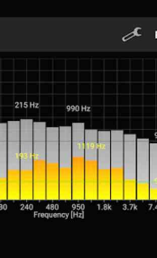 Analisador de espectro de som 2