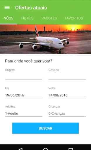 Pacote de viagens baratas vôos 2