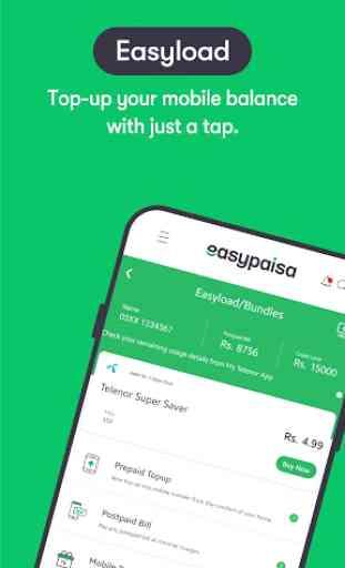 Easypaisa - Mobile Load, Send Money & Pay Bills 2