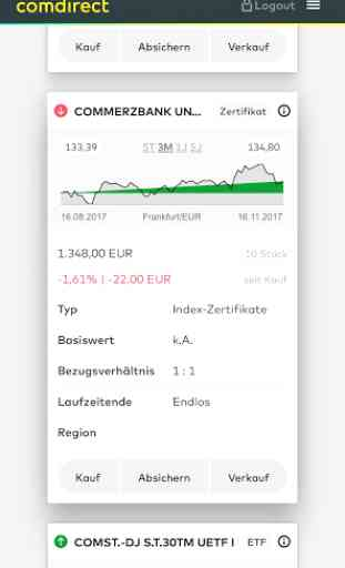 comdirect mobile App 2