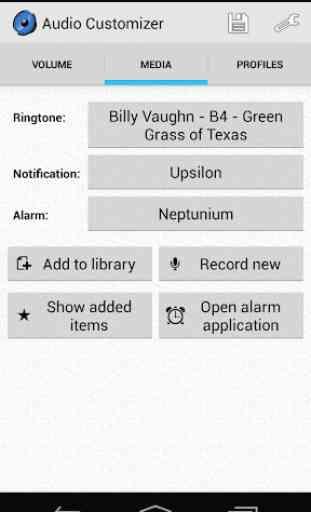 Personalizador de áudio - Volume e Ringtones 2