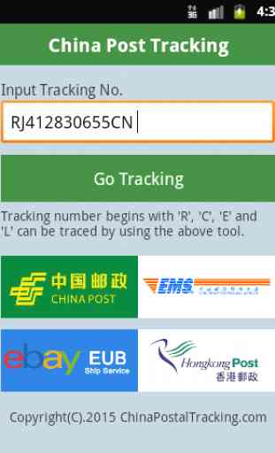 China Post Tracking 3