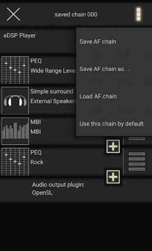 music player with parametric equalizer & surround 2