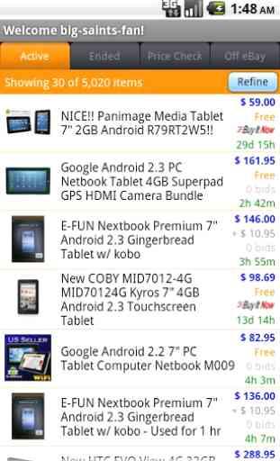 Pocket Auctions for eBay 2