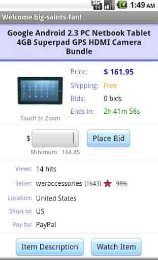 Pocket Auctions for eBay 3