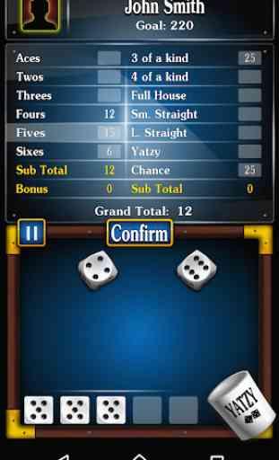 Yatzy jogo de dados gratuito , Dasos em português 2