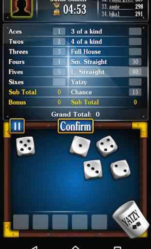 Yatzy jogo de dados gratuito , Dasos em português 3