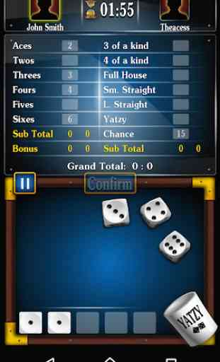 Yatzy jogo de dados gratuito , Dasos em português 4