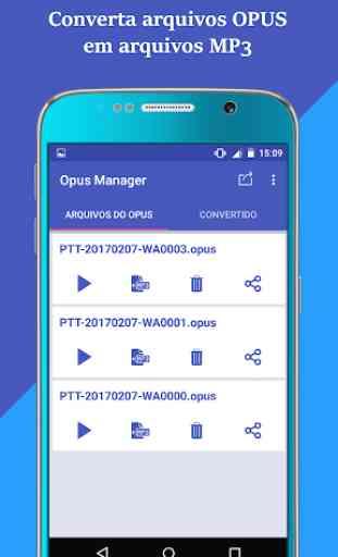 Gerenciador de áudio voz para WhatsApp OPUS to MP3 4