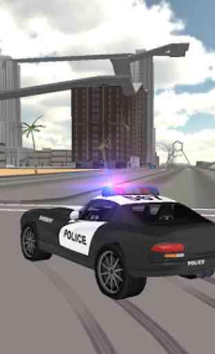 Condução carro polícia 1
