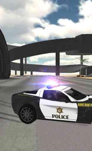 Condução carro polícia 2