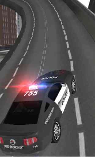 Condução carro polícia 3