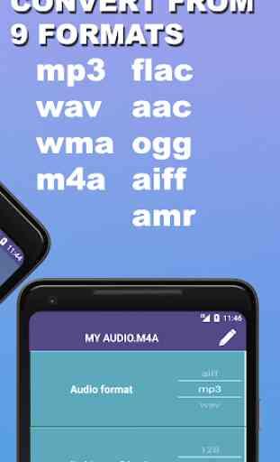 Audio Converter MP3 WAV WMA FLAC AMR AAC OGG etc. 3