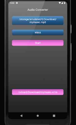 Audio Converter: mp4, mp3, wav, m4a, aac etc. 3