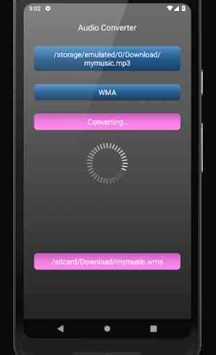 Audio Converter: mp4, mp3, wav, m4a, aac etc. 4