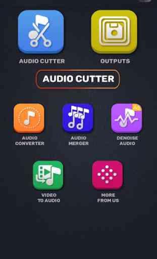 MP3 WAV AAC M4A Áudio Cortador, Conversor, Fusão 2