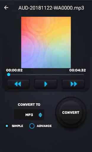 MP3 WAV AAC M4A Áudio Cortador, Conversor, Fusão 4