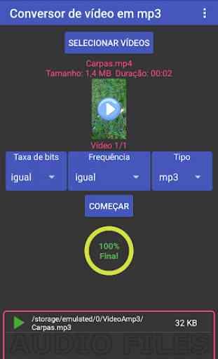Multi-conversor de vídeo em mp3, mp2, aac ou wav 1