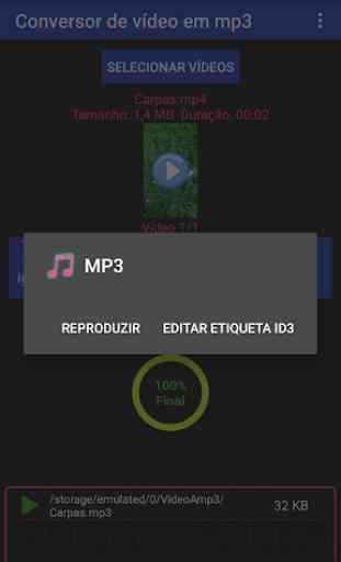 Multi-conversor de vídeo em mp3, mp2, aac ou wav 4