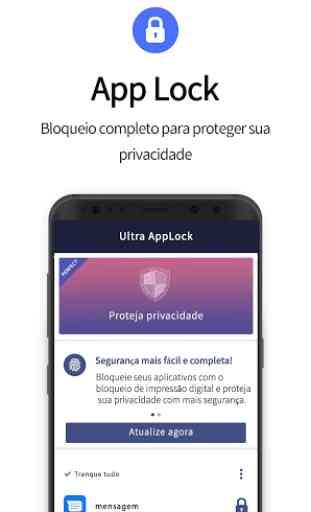 O Ultra AppLock protege sua privacidade. 1
