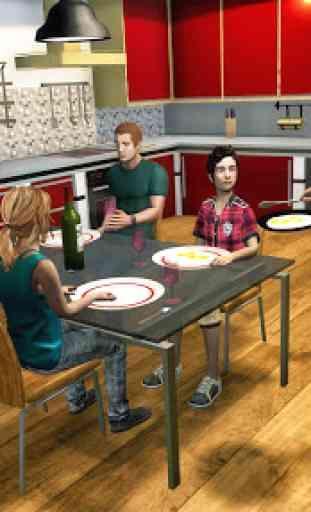 Virtual Police Dad Simulator : Happy Family Games 2