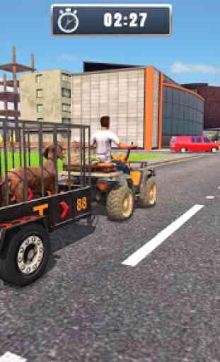 ATV Bicicleta Cão Transportador Carrinho Dirigindo 2