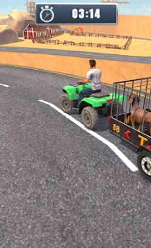 ATV Bicicleta Cão Transportador Carrinho Dirigindo 3