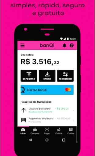 banQi — conta digital e cartão pré-pago gratuito 1