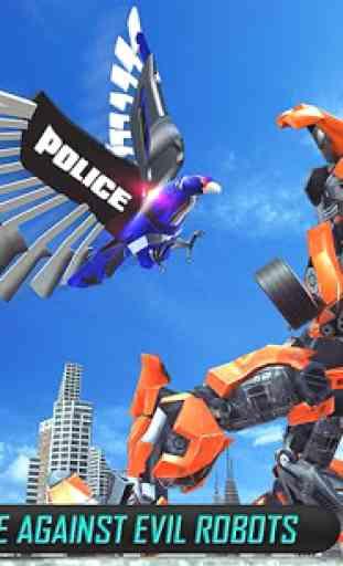 Estados Unidos polícia transform robô carro da 1