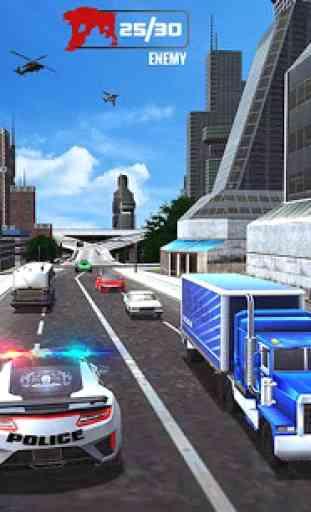Estados Unidos polícia transform robô carro da 4