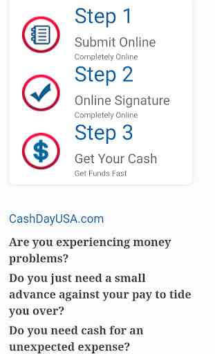 Fast Cash Loan - Payday , fast cash advance today! 2