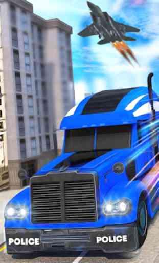 Indian Police Robot Transform Truck 2