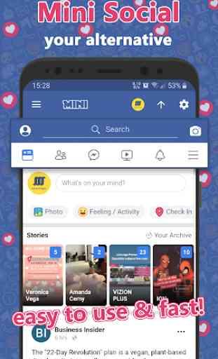 Mini for Facebook Lite & Social Video Downloader 1