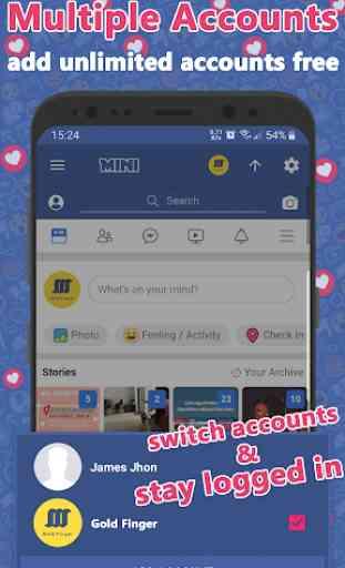 Mini for Facebook Lite & Social Video Downloader 3