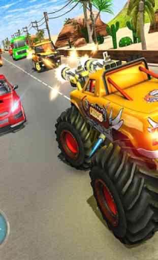Monster Truck Racing Jogos: Transform Robot games 1