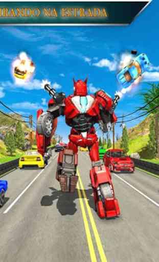 Monster Truck Racing Jogos: Transform Robot games 2