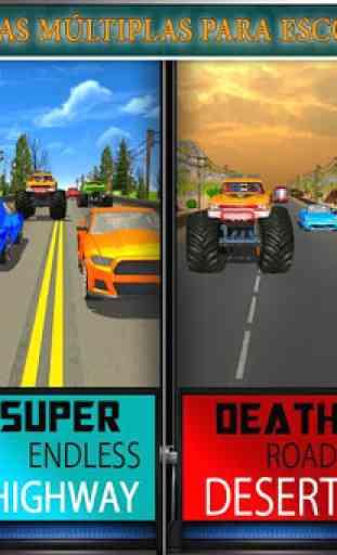 Monster Truck Racing Jogos: Transform Robot games 4
