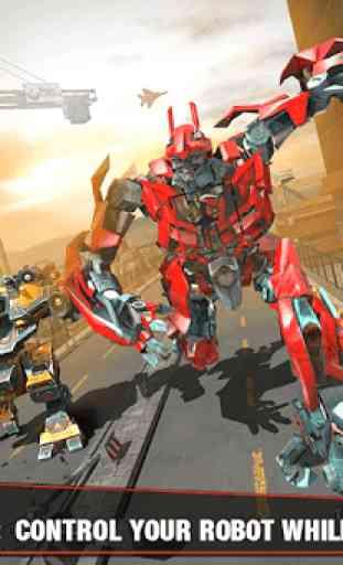 Multi Robot Transform Battle: Jogos de jato de ar 2