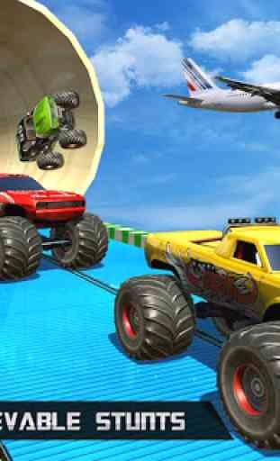 Ramp Monster Truck Stunts:New Racing Games 3