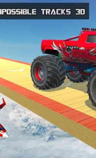 Ramp Monster Truck Stunts:New Racing Games 4