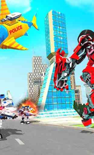 Robot Shark Attack: Transform Robot Shark Games 2