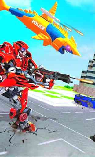 Robot Shark Attack: Transform Robot Shark Games 4
