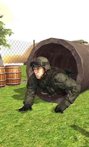 Treinamento de exercícios dos exércitos exército 3