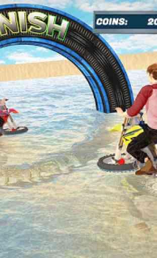 agua Surfista Bicicleta de praia Acrobacias Corrid 1