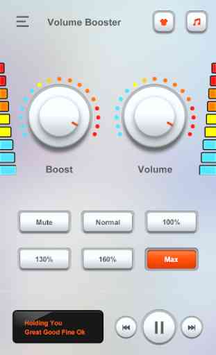 Aumentador de volume - amplificador de volume 4
