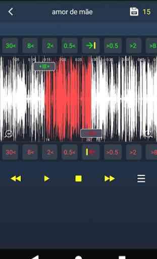 Editor de áudio- cortar música, fazer toques music 2