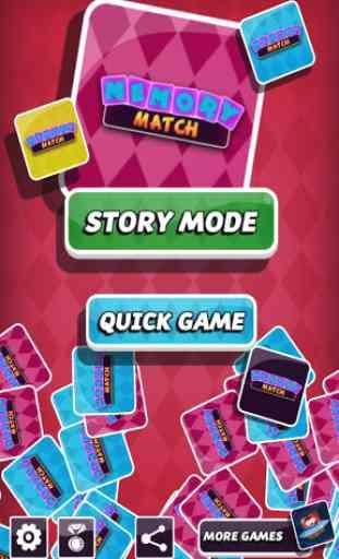 Jogo da memória, Memory Match. Melhorar a memória. 1