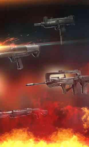 jogos offline: zombie defense shooting 4
