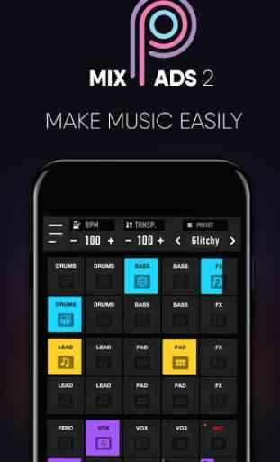 MixPads 2-Drum Pad DJ Music Mixer 1